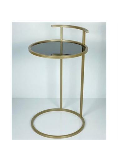 Maxmillen Maxmillen Dekoratif Metal Tasarım Yan Sehpa 40 X 60 Altın